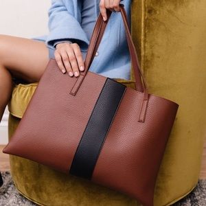 Vince Camuto Leather Vegan Tote